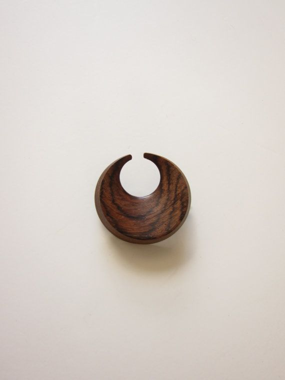 Modernist Aarikka Brooch in Rosewood by ModernSquirrel on Etsy, $50.00
