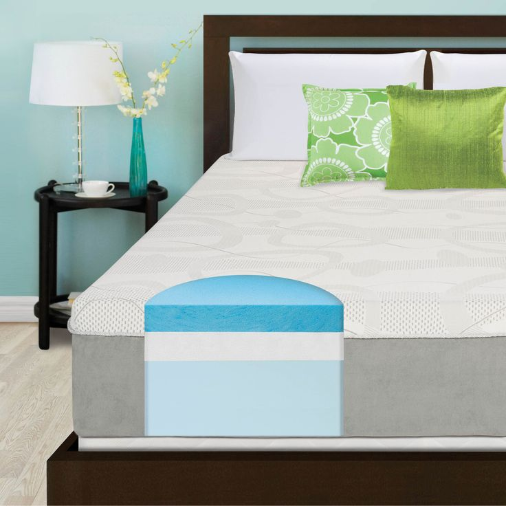 Slumber Solutions Choose Your Comfort 14 Inch Queen Size Gel Memory Foam Mattress By Slumber