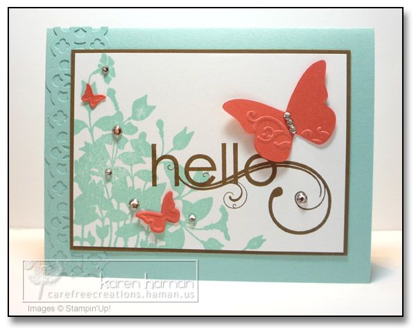 Stampin Up: Stampin Pet, Cards Stampin, Cards Butterflies, Cardmaking, Card Ideas, Paper Crafts, Stampin Up Cards, Stampin Up Stamps Cards