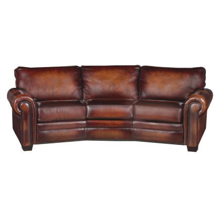 Antique Brown Leather Sofa I Love How It Has A Curve To It