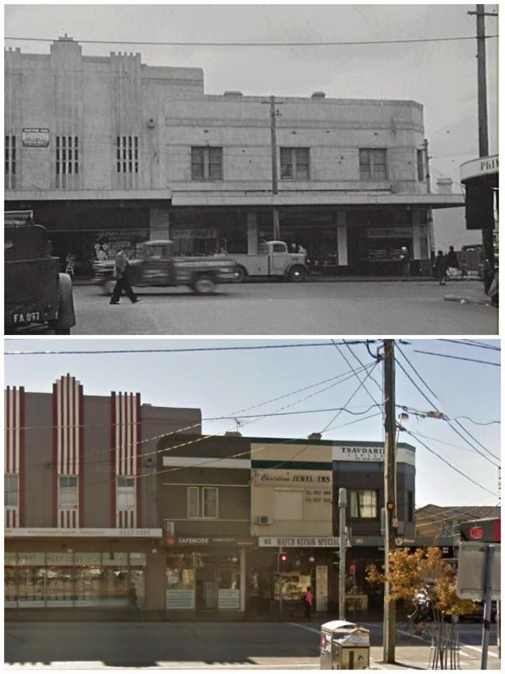 Enmore Rd, Enmore from Metropolitan Rd 1950s>2014 [1950s: City of Sydney Archives, 2014: Google Street View. By Curt Flood]