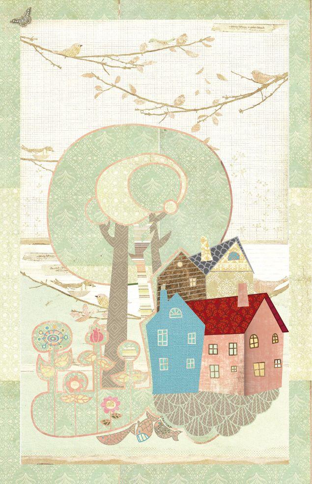Postal de Malmö, ilustración de Elena catalán     (kipuruki)  Malmö, illustration by Elena Catalán (Kipuruki)