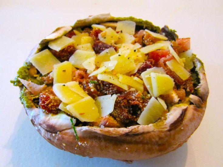 Nana's Kitchen: Portobello met zongedroogde tomaten - Lekker en Simpel