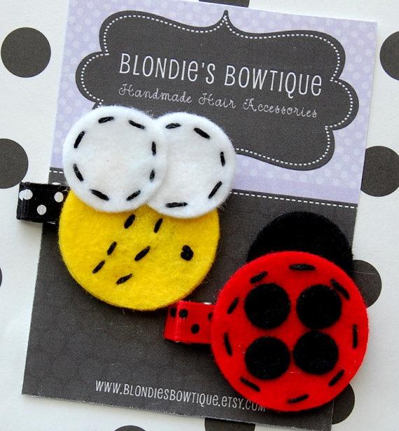 felt hair clips www.blondiesbowtique.etsy.com