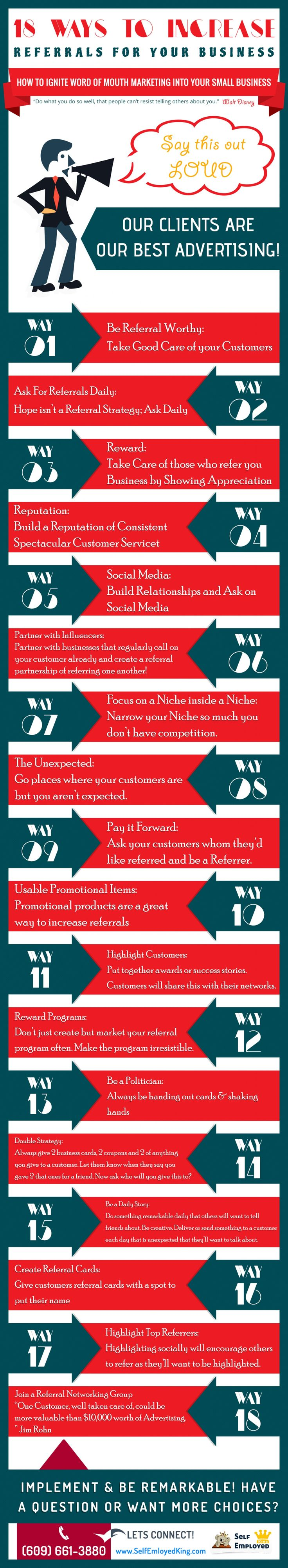 How to Increase Word Of Mouth Marketing Infographic