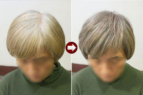 グレイヘアカラー明るい白髪染めアッシュ系 グレイヘア カラフル