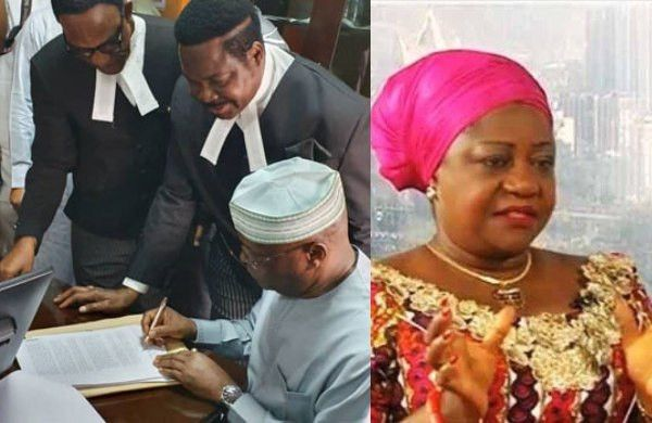 Atiku Appears In Court Signs N2 5bn Libel Suit Against Lauretta Onochie Democratic Party Court Presidential Candidates
