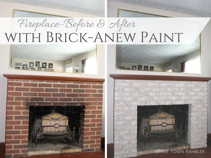 16 best Paint a Brick Fireplace images on Pinterest | Fireplace ...