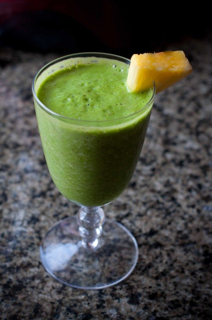 Tropical Green Smoothie Recipe | Smoothies and Juices | Pinterest