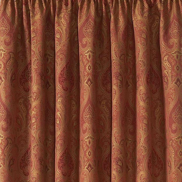 Terracotta Novello Lined Pencil Pleat Curtains | Dunelm