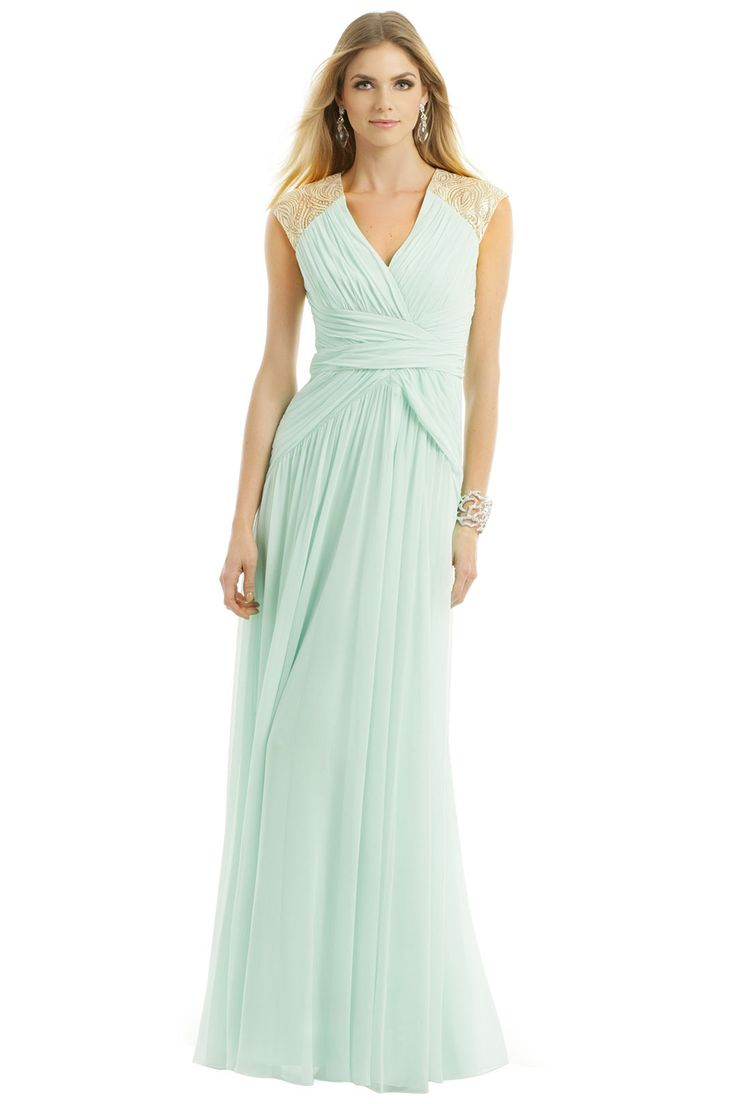 Badgley mischka mint dream gown rent the runway mint for Rent designer wedding dresses online