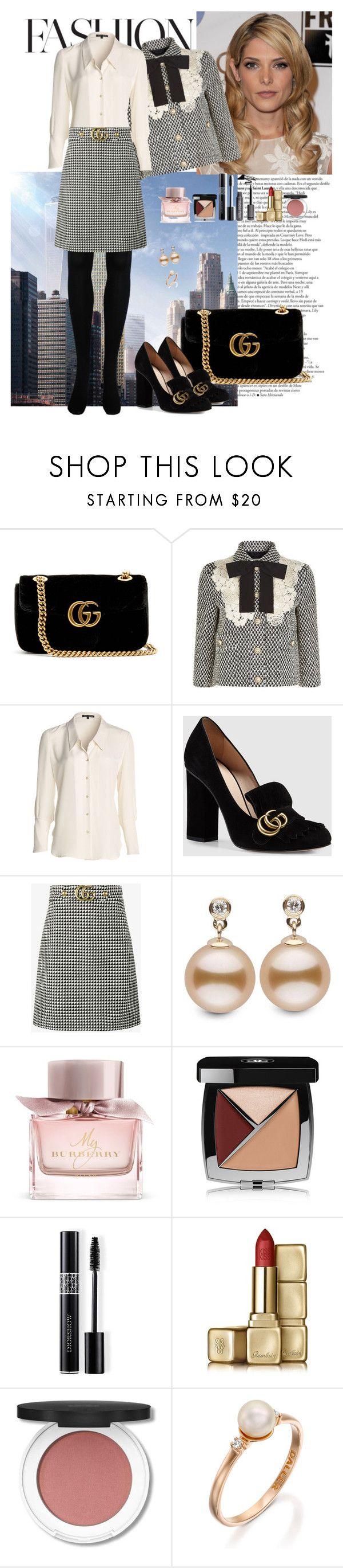 """Untitled #500"" by nympanyela ❤ liked on Polyvore featuring Gucci, NIC+ZOE, Burberry, Chanel, Christian Dior and Guerlain"
