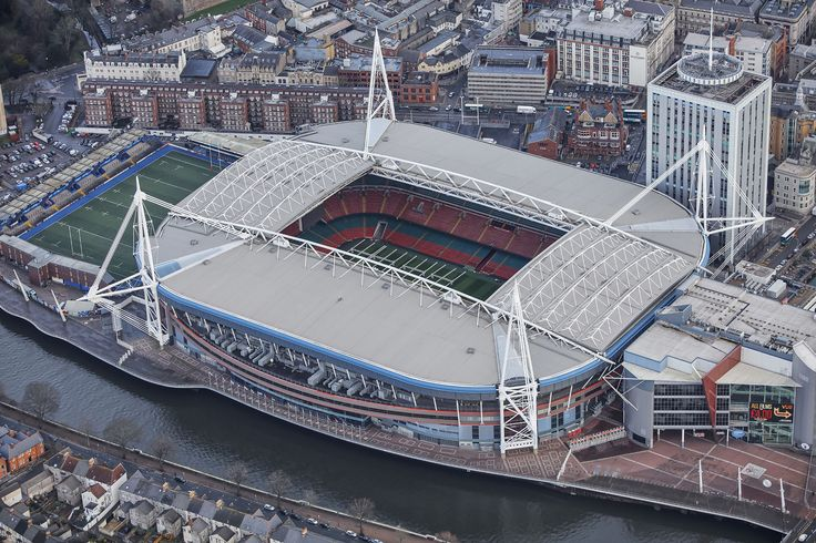 Principality Stadium in Cardiff aerialphotography