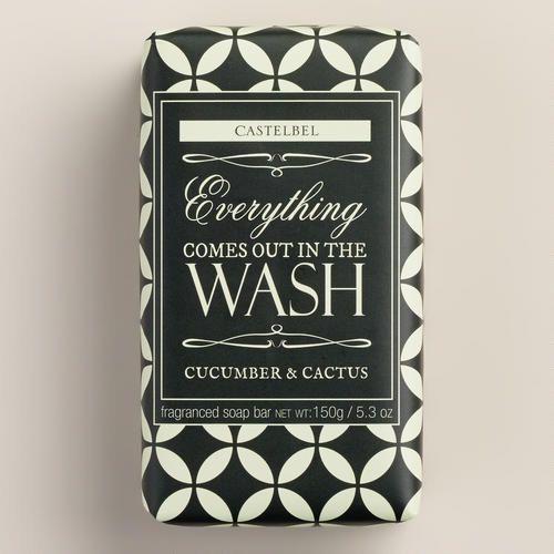 Castelbel Black & White Cucumber & Cactus Bar Soap | World Market