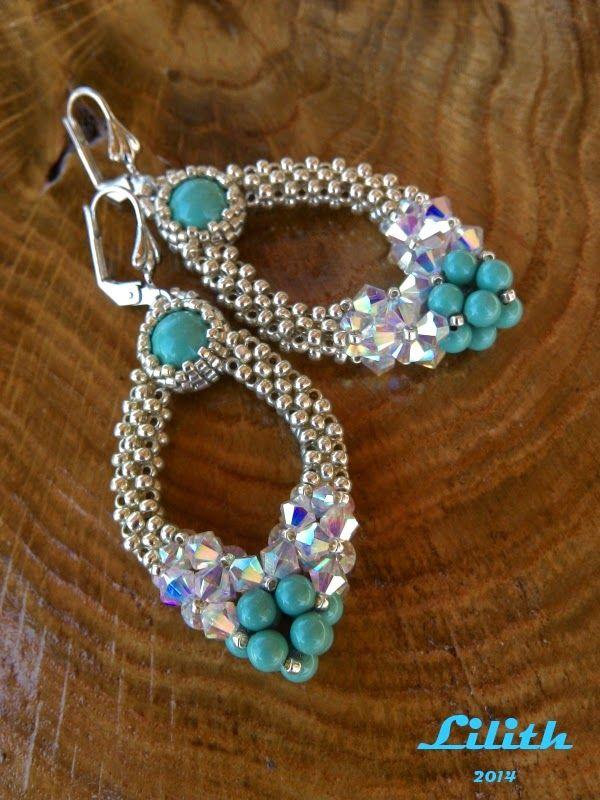 Lovely beaded earrings beaded by Lilith - design by Mei Bijoux?