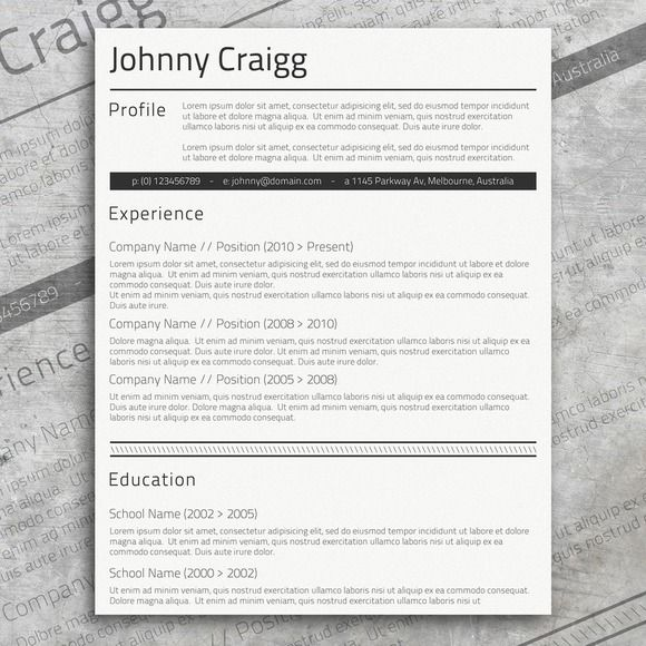 16 best Resume Templates images on Pinterest Resume, Cv resume - resume template microsoft word 2010