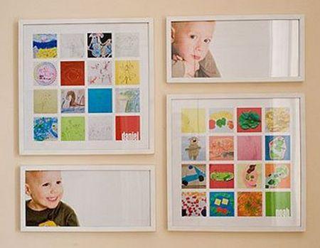 Enmarcar los dibujos de tus hijos