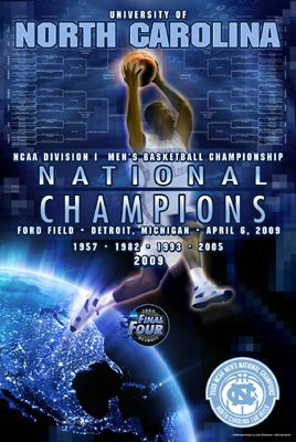 Carolina Tar Heels Basketball | RARE: North Carolina Tar Heels 2009 NCAA Men's Basketball Champions ...
