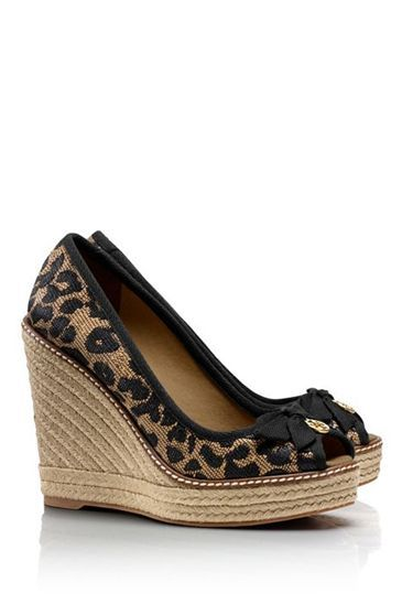 Really like this print and the wedge heel but a little too high.