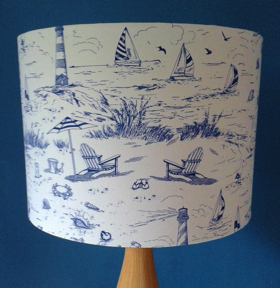 Beside The Seaside -fabric covered Lamp shade