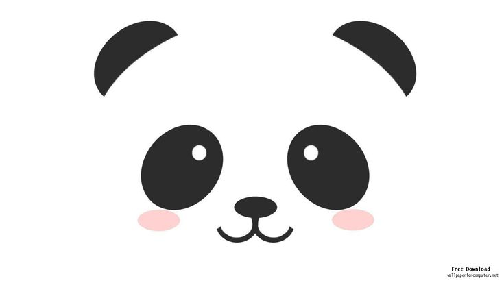 panda face drawing - Google Search
