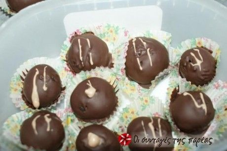 Σοκόλατο-τρουφάκια απο μπισκότα 'OREO'...σοκόλαση!!!!
