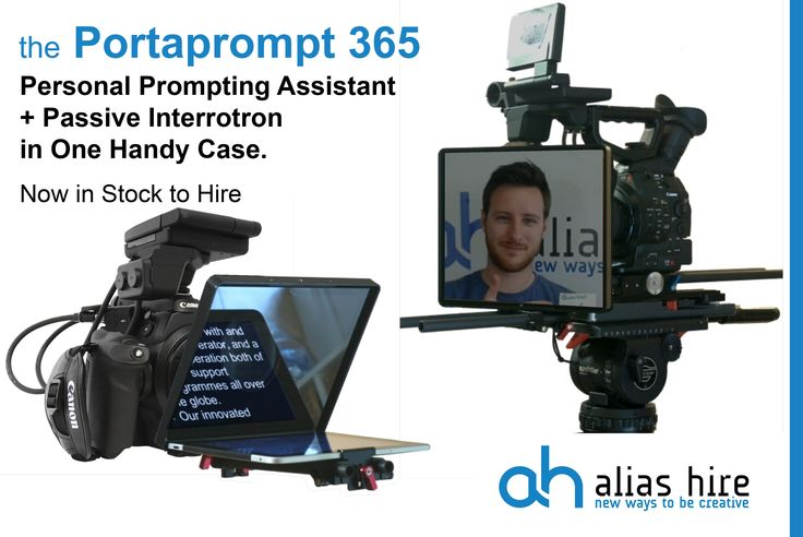The Portaprompt 365 Personal Prompting Assistant and Passive Interrotron available to hire now. www.aliashire.co.uk