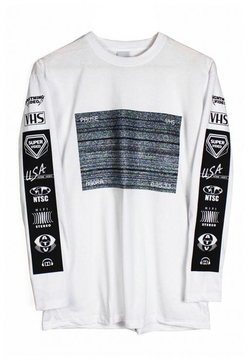 Agora VHS Static Long Sleeve t shirt