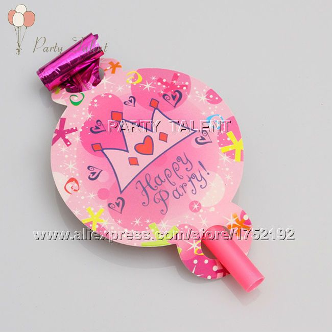 Ну вечеринку поставляет 10 шт. девушка принцесса тема ну вечеринку, день рождения ну вечеринку украшения выброс задуть розовый корона мультфильм шаблон