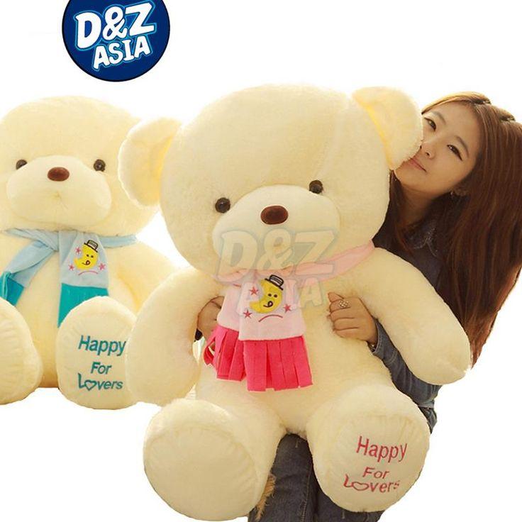Pernycess 4# 1pcs 80cm Teddy Bear with scarf dolls wedding birthday gift for kids //Price: $US $27.59 & FREE Shipping //     #toys