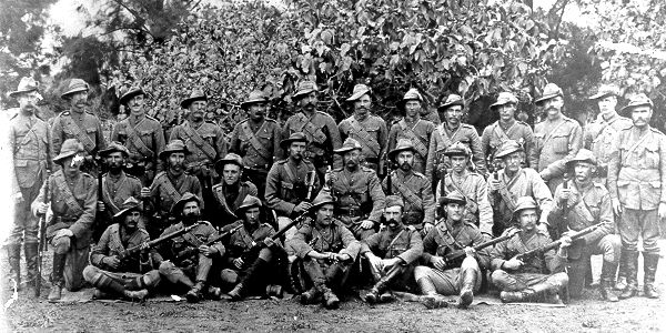 Photo of a group of Boer Soldiers