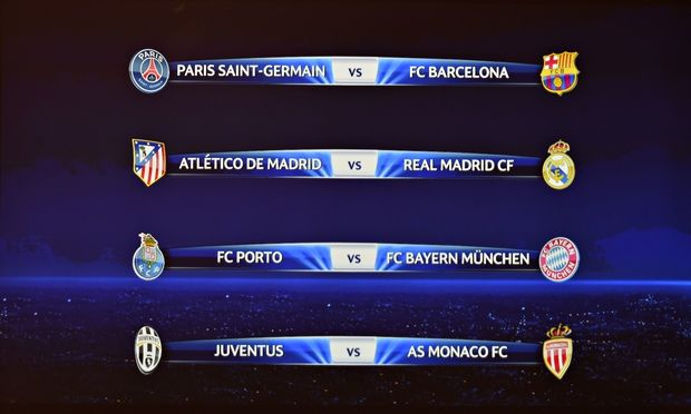 Champions League 2014-15 quarter final ist fixtures