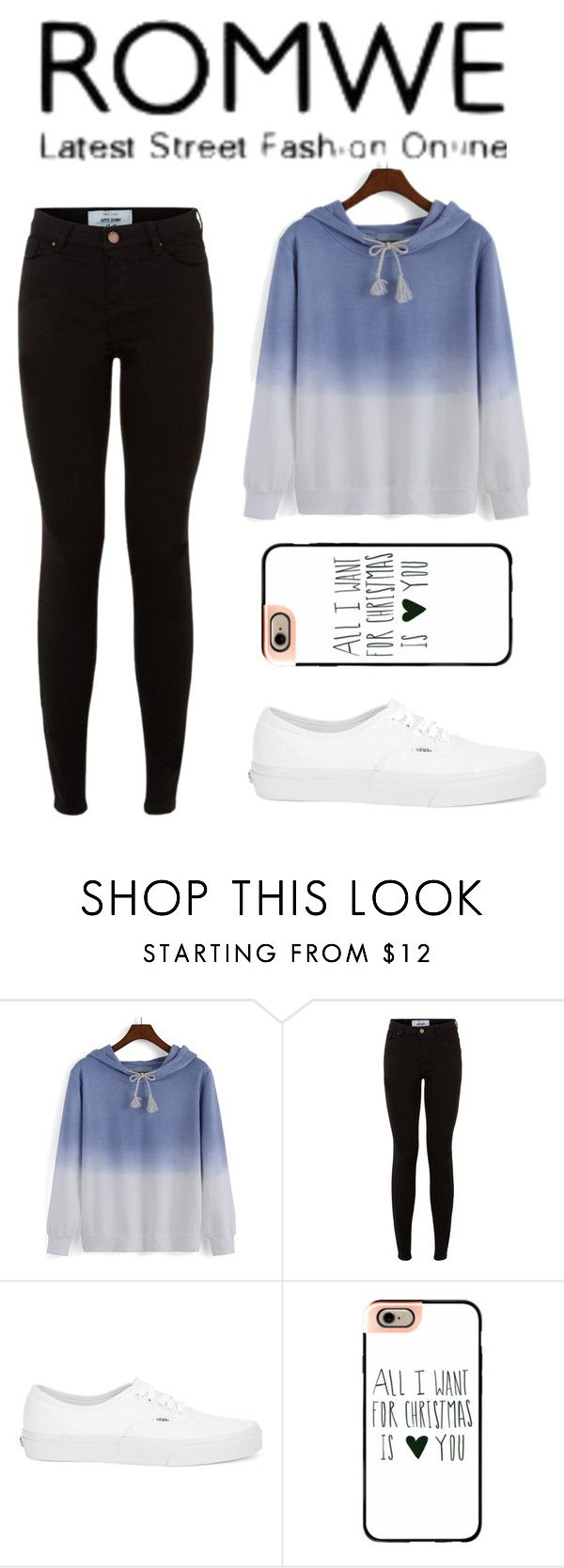 """""""Ombre Sweatshirt"""" by sad11 ❤ liked on Polyvore featuring Vans and Casetify"""