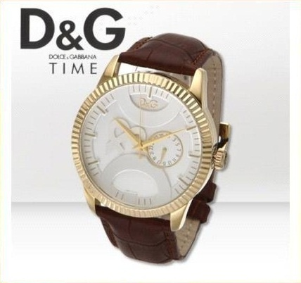 Watch Dolce & Gabbana D & G for men case 44 mm leather strap and gold-plated stainless steel case List Price € 185.00 Discounted price € 90.00 www.lacoronaore.com