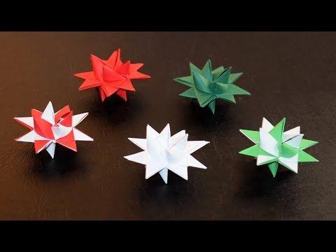 Fröbelsterne basteln - Sterne aus Papierstreifen falten