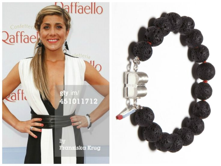 Panagiota Petridou is wearing a PURE Black Lava bracelet from BISAZO (http://www.cliccessory.com/en/collections/bisazo/pure/pure-schwarze-lava.html).
