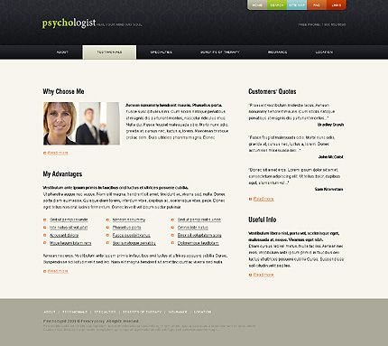 Family Psychologist Website Templates by Modlin