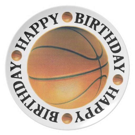 Happy Birthday Basketball Dinner Plate