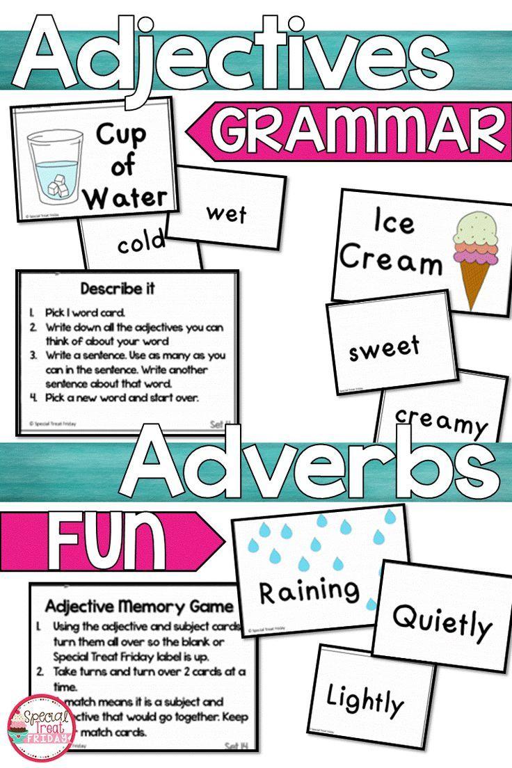 Adjectives Activities Adverbs Activities Adjectives Activities Adverb Activities Elementary Writing [ 1104 x 736 Pixel ]