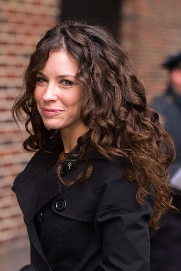 Love her long curly hair