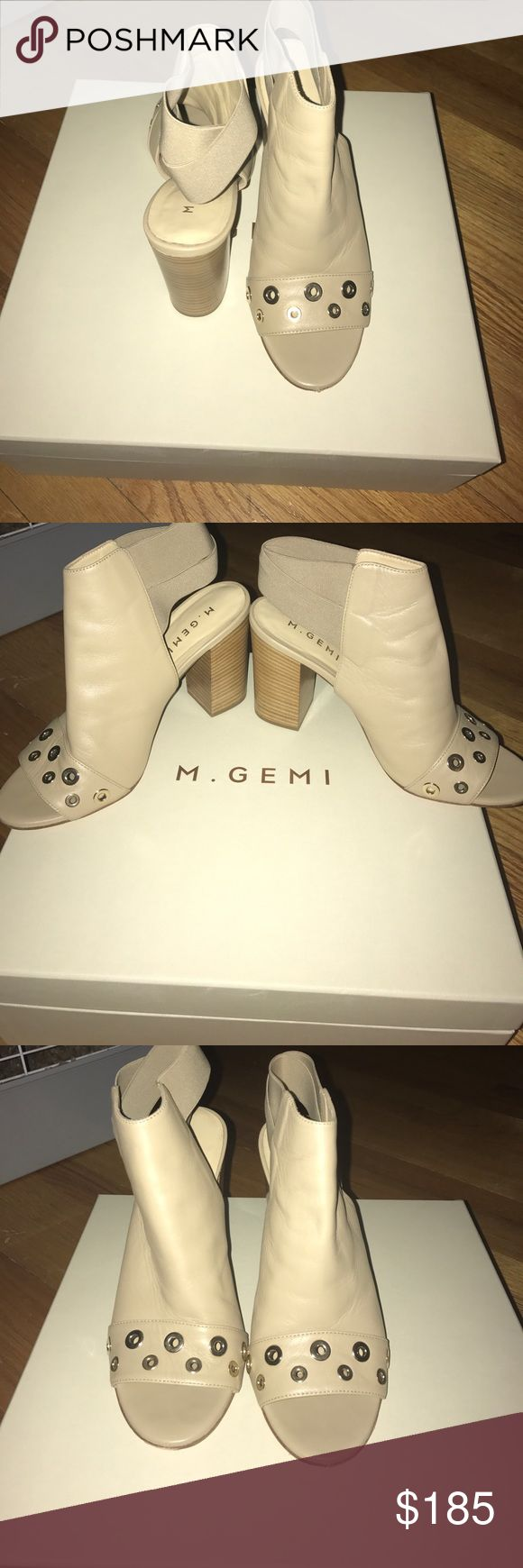 M GEMI Italian Leather Shoes BRAND NEW Size 8.5 ⭐️⭐️AMAZING DEAL⭐️⭐️⭐️Brand new, Still with original Packaging, Box and Dust Bag included, Italian Leather, SAND color M. Gemi Shoes Heels