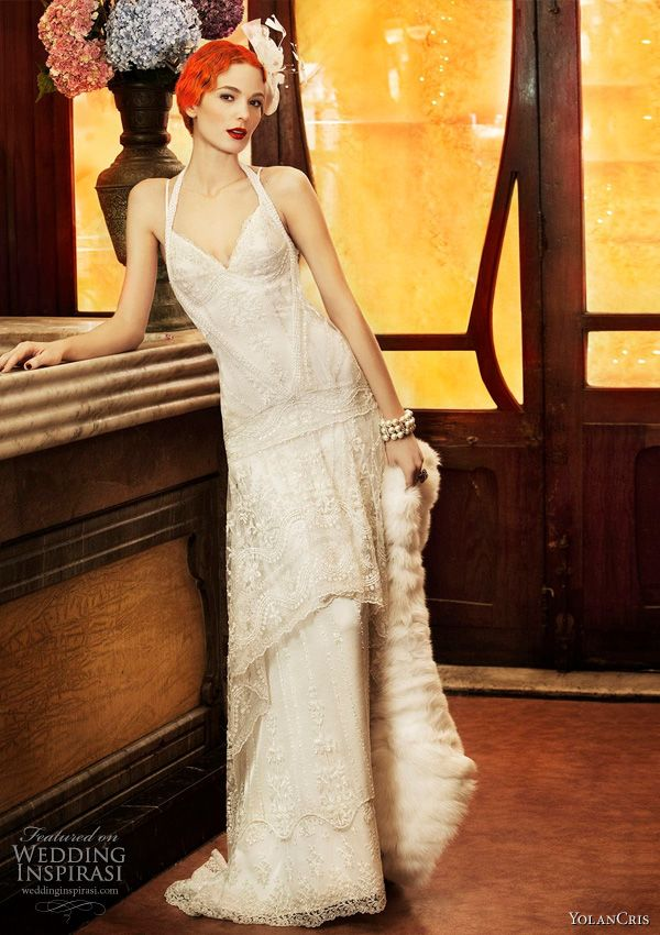 Roaring 20s fashion inspired bridal gowns by YolanCris 2011 Revival Vintage collection  - Paris wedding dress