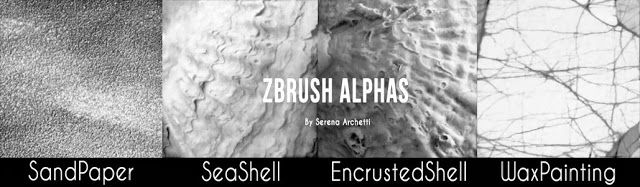 zbrush free alphas texture of rough shell surface