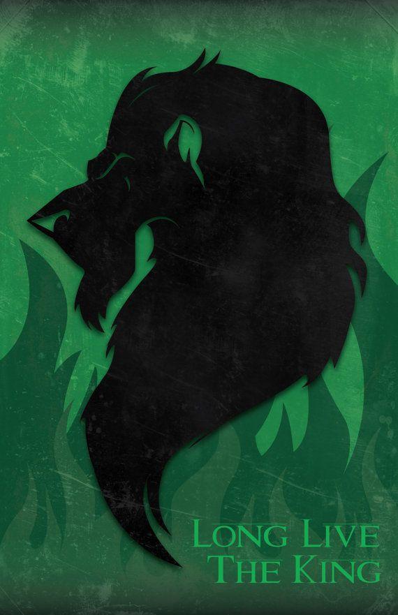 Scar The Lion King Art Print by AshleyDelphDesigns on Etsy