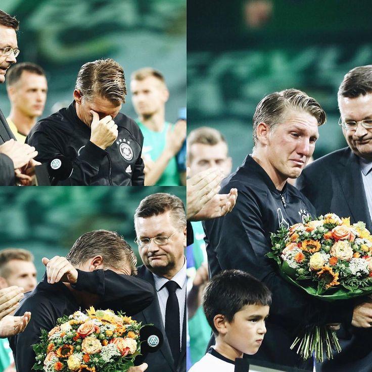 "503 Likes, 7 Comments - DFB-Team (@germany_nt) on Instagram: ""DANKE Fußballgott @bastianschweinsteiger! We got teary too  #ServusBasti #GERFIN #germany…"""
