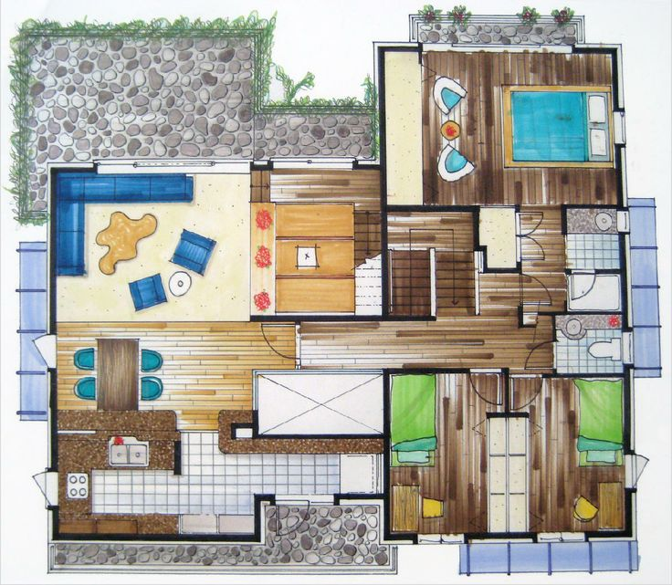 rendered floor plans - Google Search