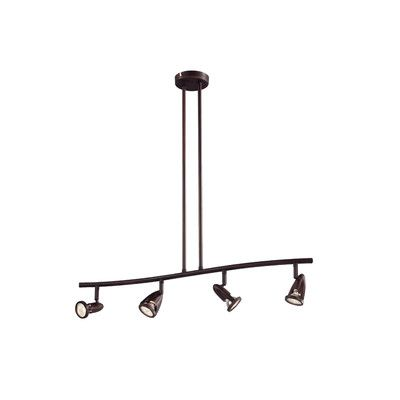 TransGlobe Lighting Modern Track Lights 4 Light Full Track Lighting Kit Finish: Rubbed Oil Bronze