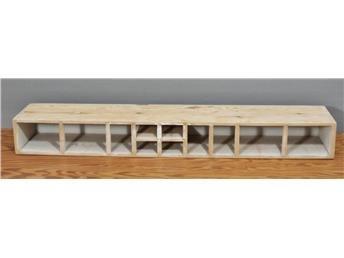 Hylla/stomme för Reda-skeppor - Specerihylla/Kryddhylla för 11 skeppor/burkar
