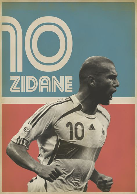 My favorite football player and one of my favorite graphic artists: Zinedine Zidane by Zoran Lucic