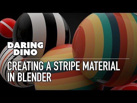Creating a Stripe Material in Blender - BlenderNation